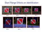 slant range effects on identification