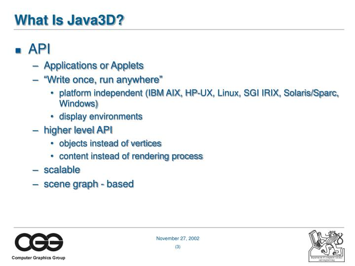 What is java3d