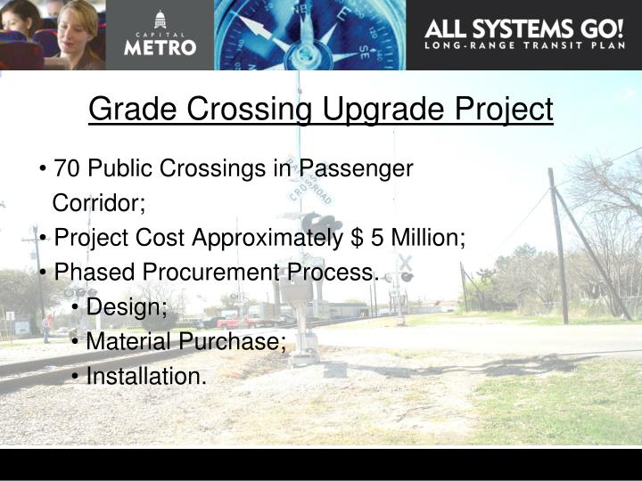 Grade Crossing Upgrade Project