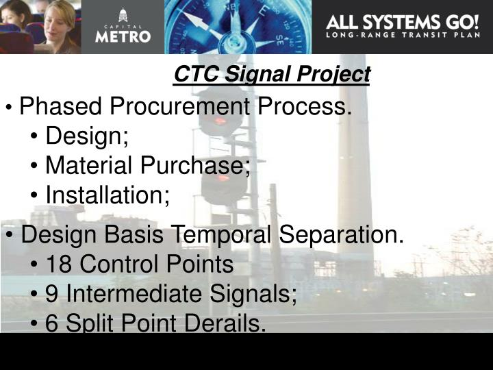 CTC Signal Project