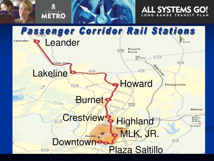 Passenger Corridor Rail Stations
