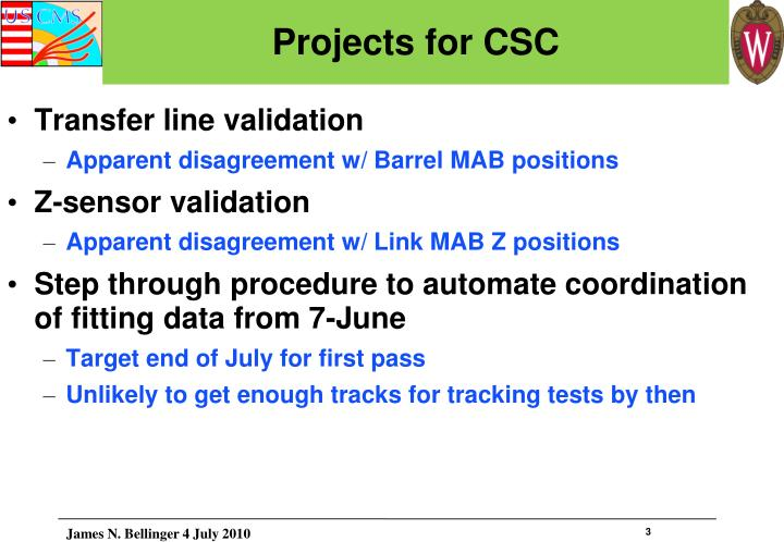 Projects for csc