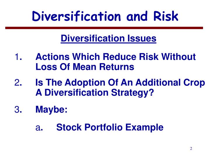 diversification in stock portfolios Diversification, with its emphasis on whether your stock portfolio includes six securities and the investment portfolios of variable annuities.