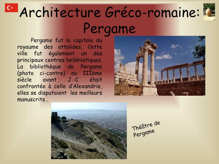 Architecture Gréco-romaine: Pergame