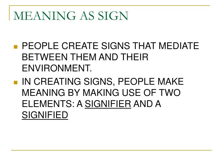 meaning as sign n.