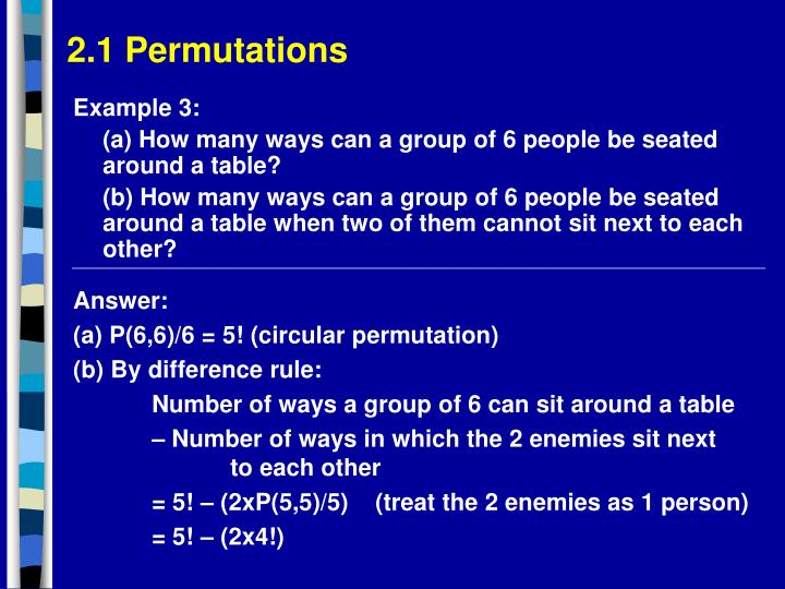 2.1 Permutations