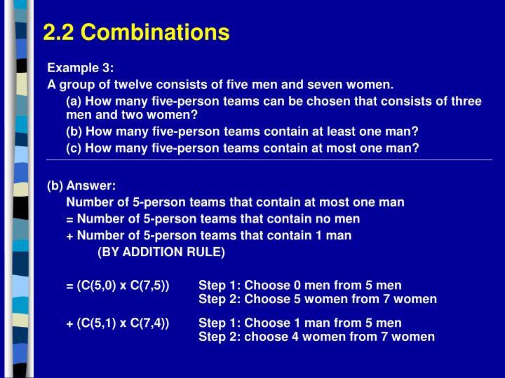 2.2 Combinations