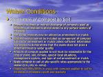 waiver conditions2
