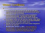 waiver conditions4
