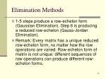elimination methods3