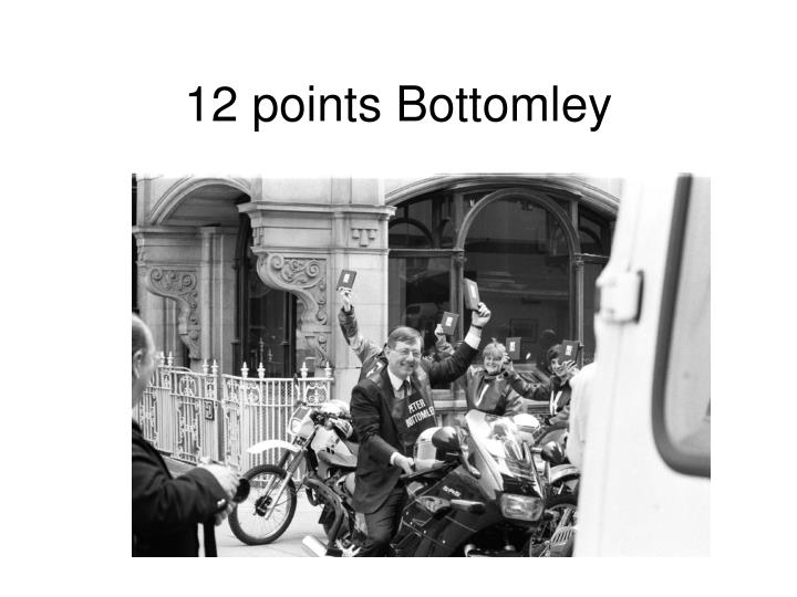 12 points Bottomley