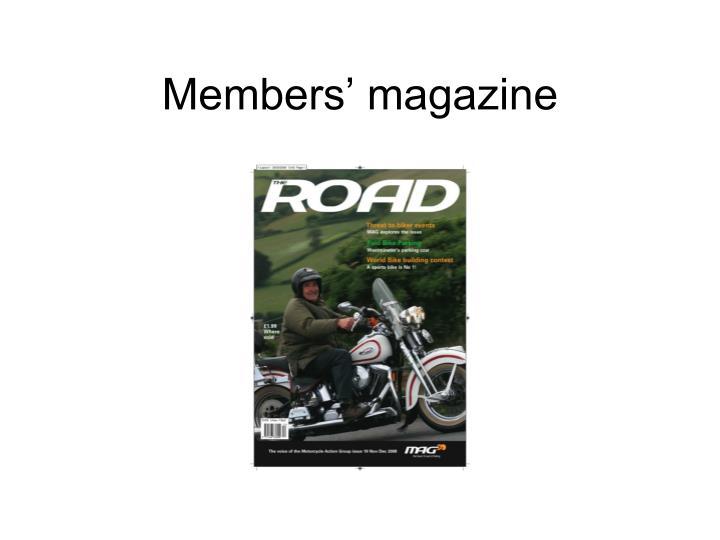Members' magazine
