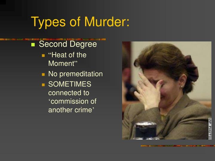 Types of Murder: