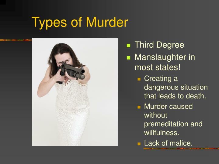 Types of Murder