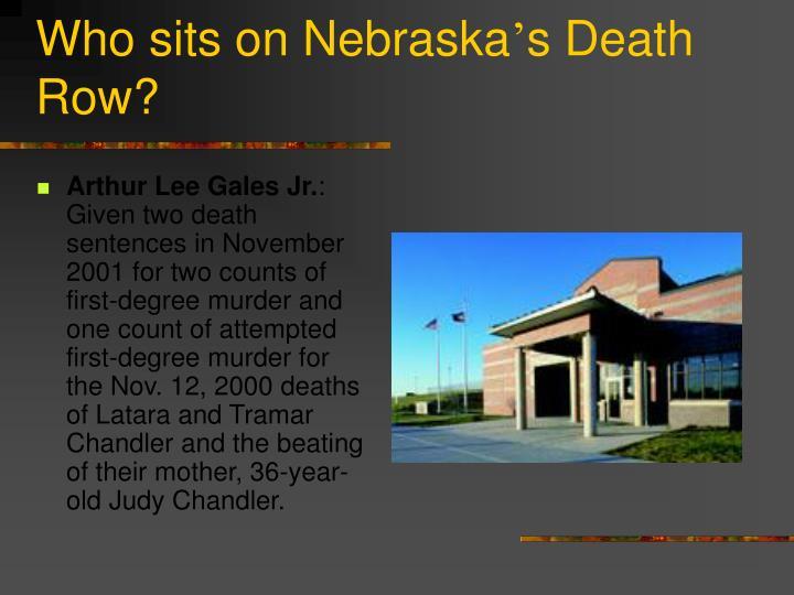 Who sits on Nebraska