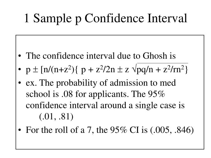 1 Sample p Confidence Interval