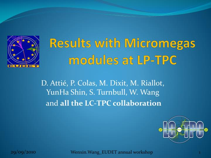 results with micromegas modules at lp tpc n.