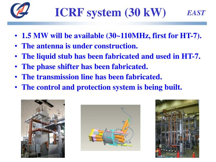 ICRF system (30 kW)