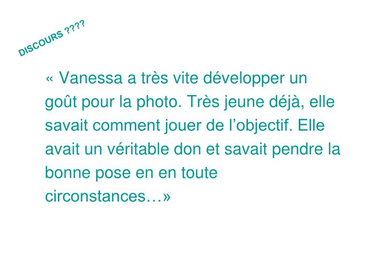 DISCOURS ????