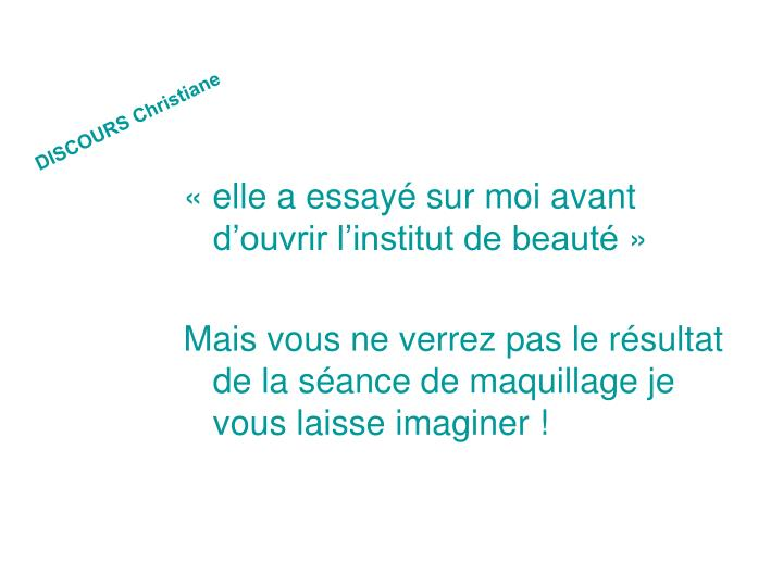 DISCOURS Christiane