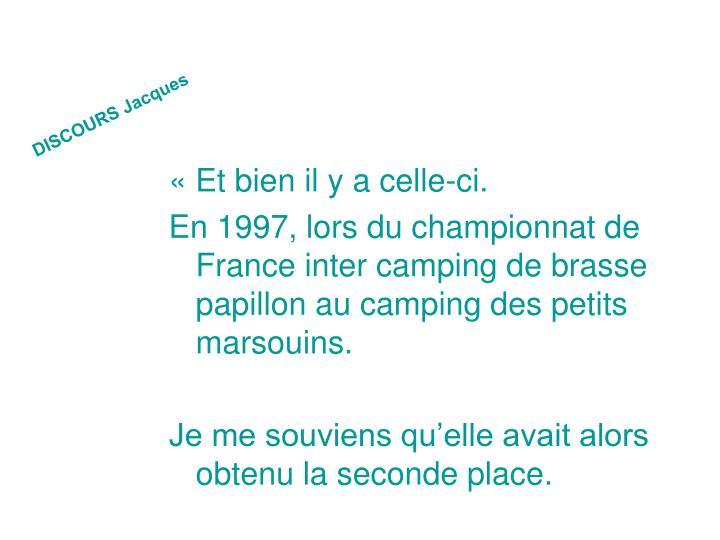 DISCOURS Jacques