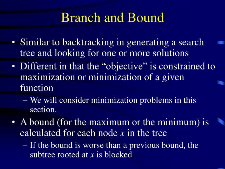 branch and bound n.