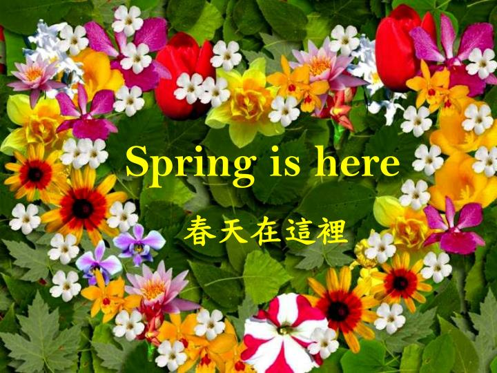 Spring is here