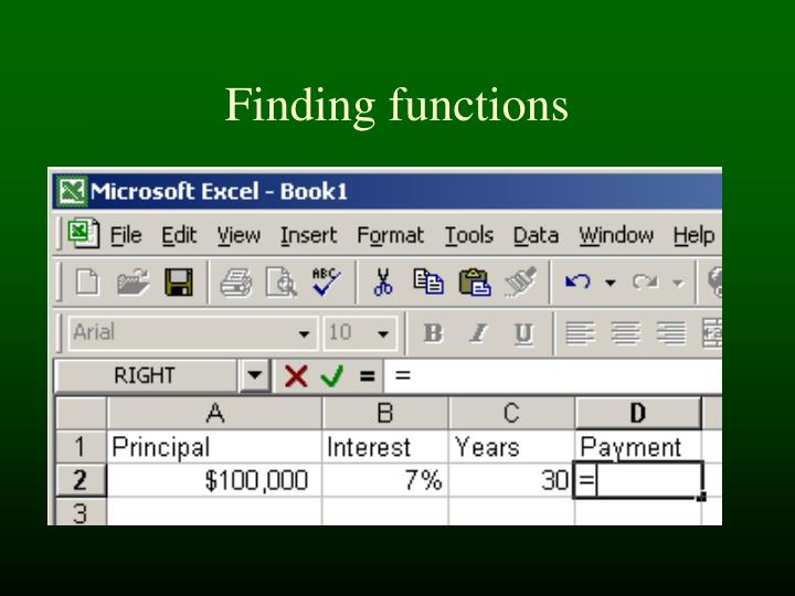 Finding functions