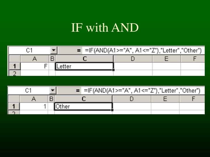 IF with AND