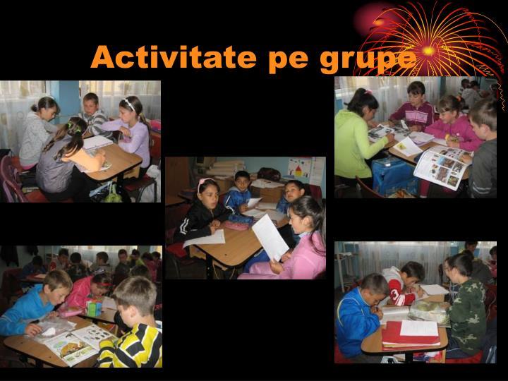Activitate pe grupe