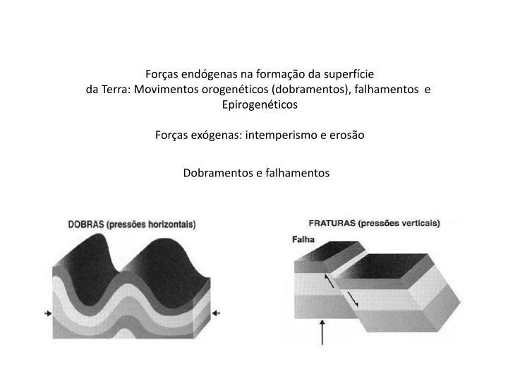 Forças endógenas na formação da superfície