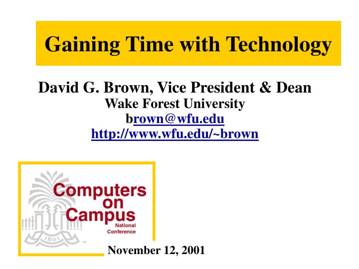 gaining time with technology n.