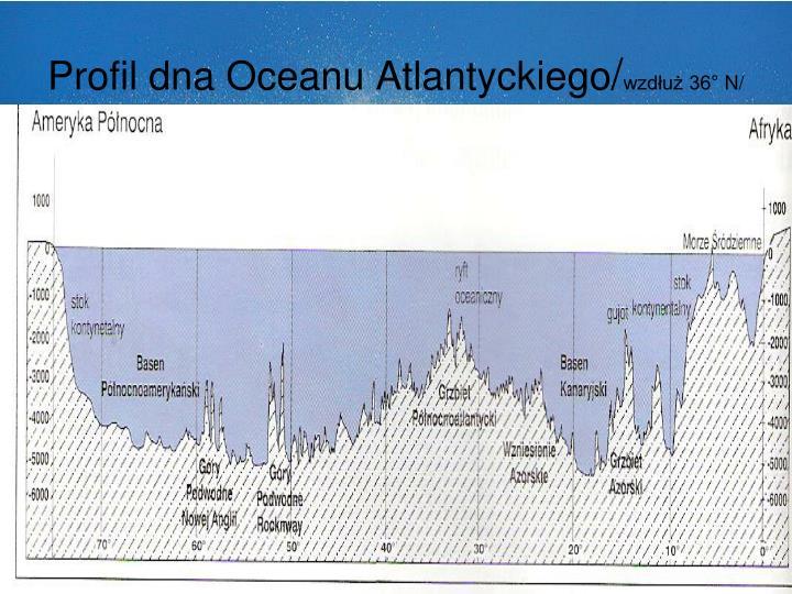 Profil dna Oceanu Atlantyckiego