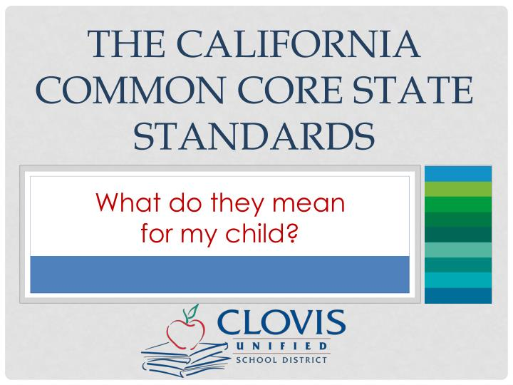 the california common core state standards n.