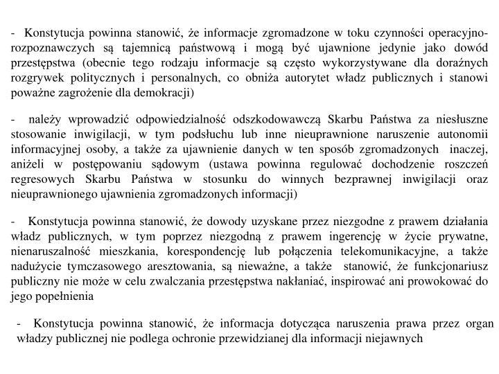 -  Konstytucja