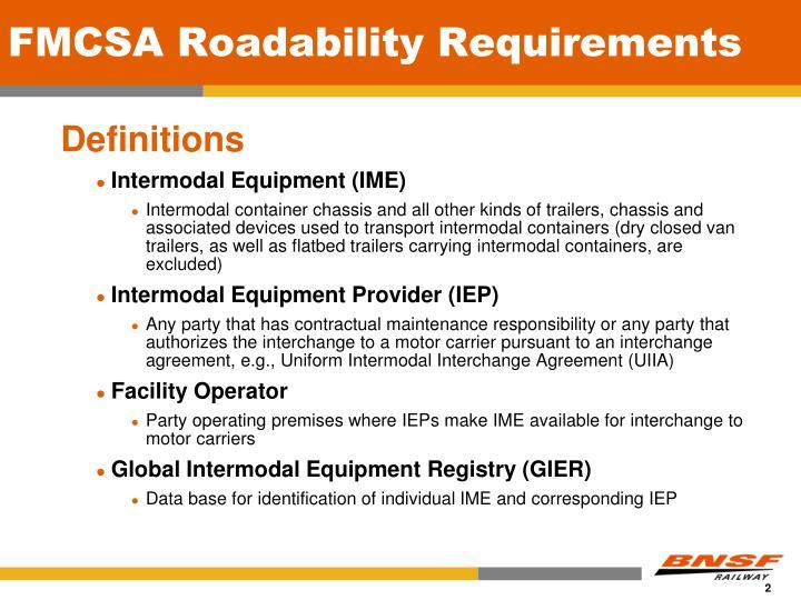 Fmcsa roadability requirements1