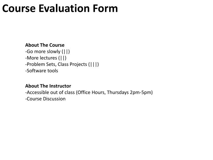 course evaluation form n.