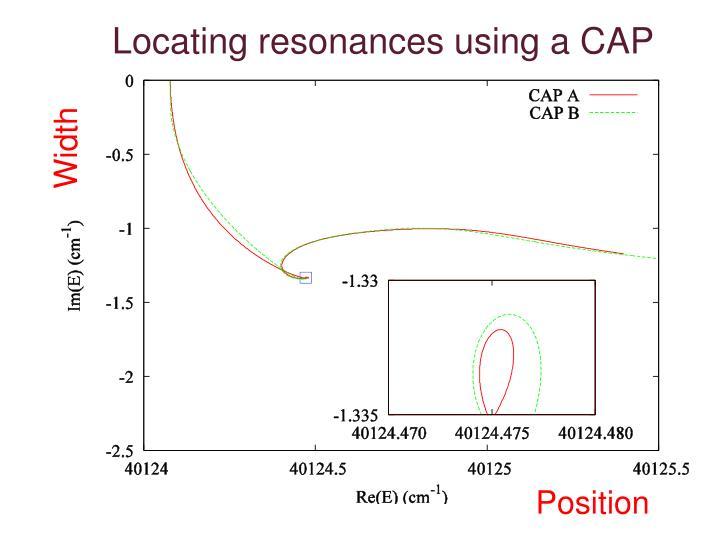 Locating resonances using a CAP