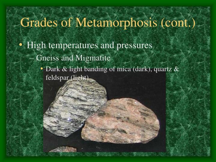 Grades of Metamorphosis (cont.)