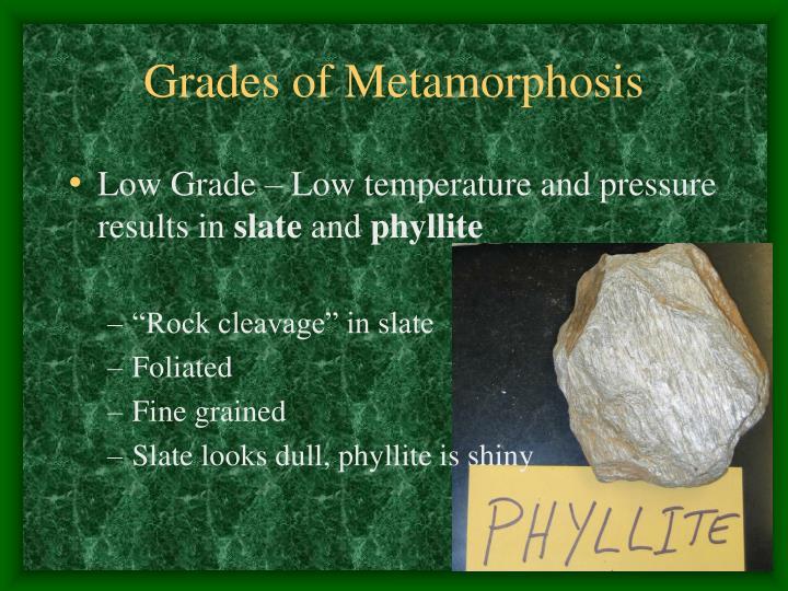 Grades of Metamorphosis