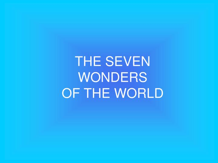 the seven wonders of the world n.
