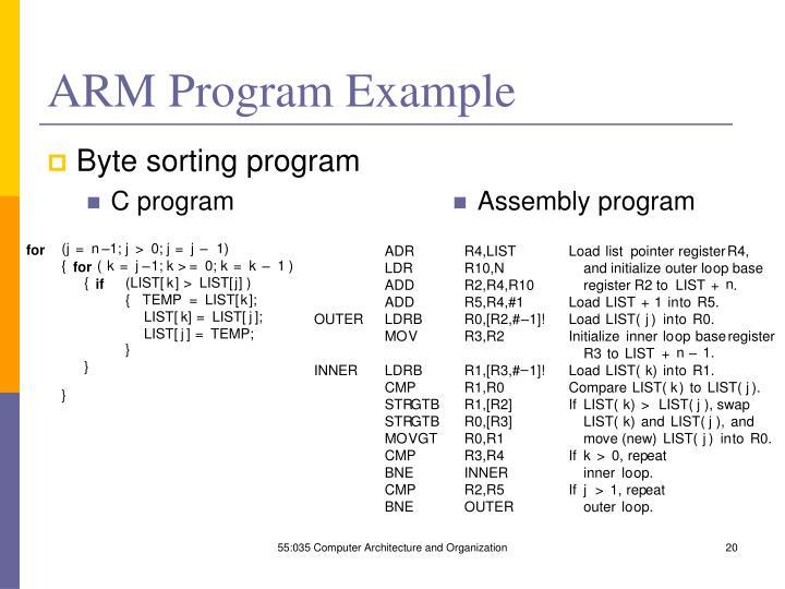 ARM Program Example