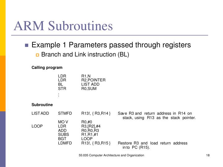 ARM Subroutines