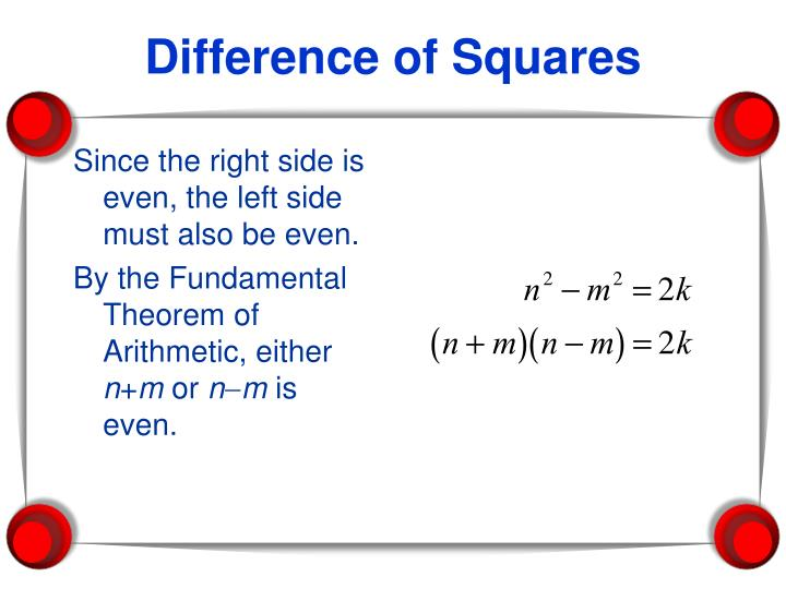 Since the right side is even, the left side must also be even.