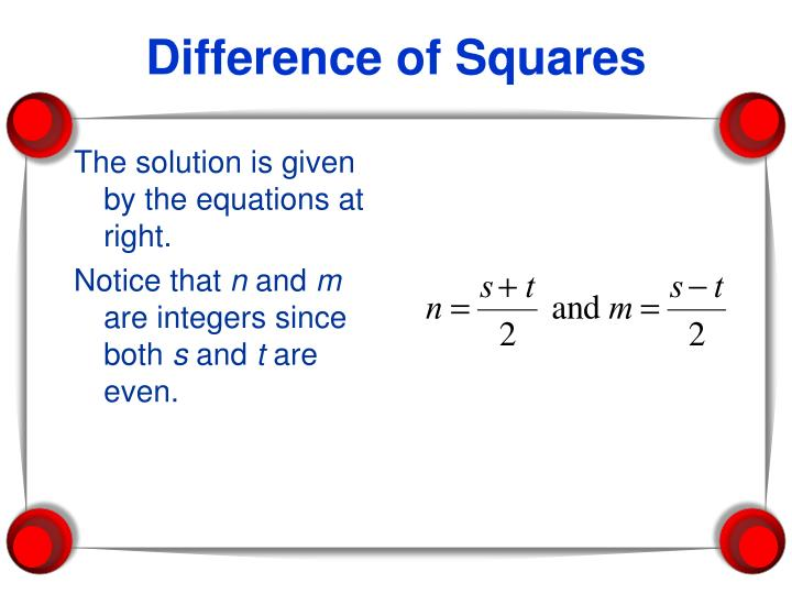 The solution is given by the equations at right.