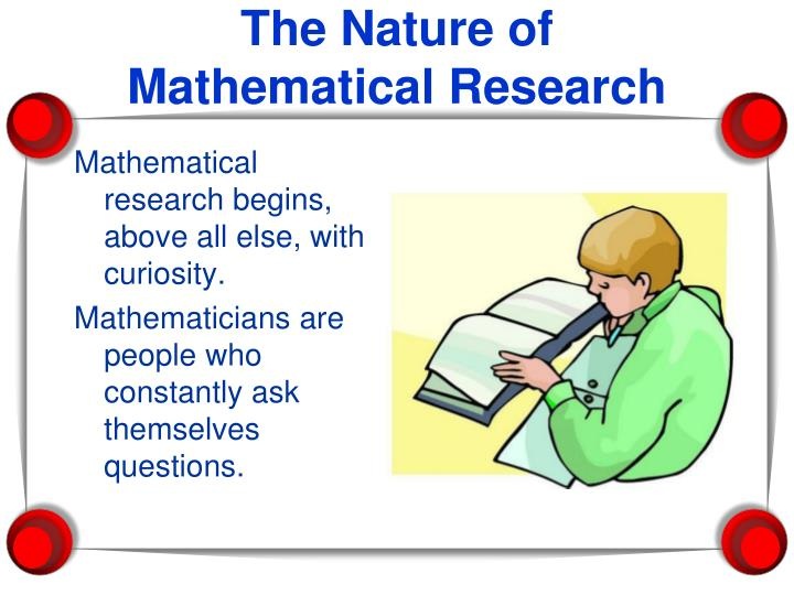 The nature of mathematical research
