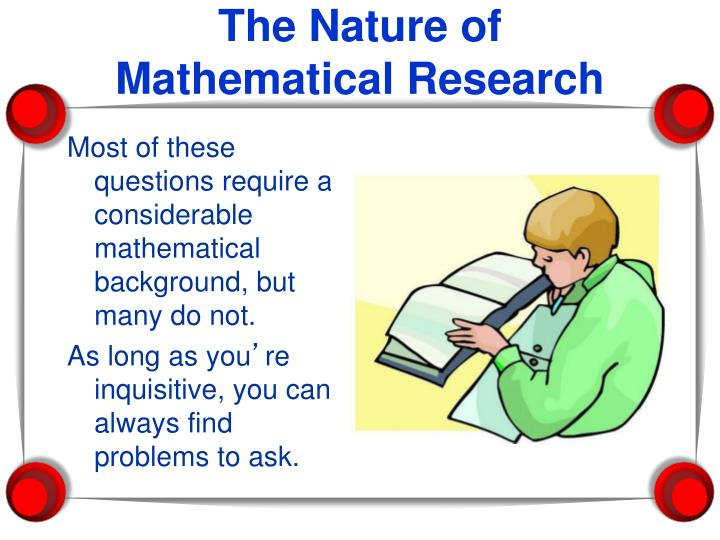 Most of these questions require a considerable mathematical background, but many do not.
