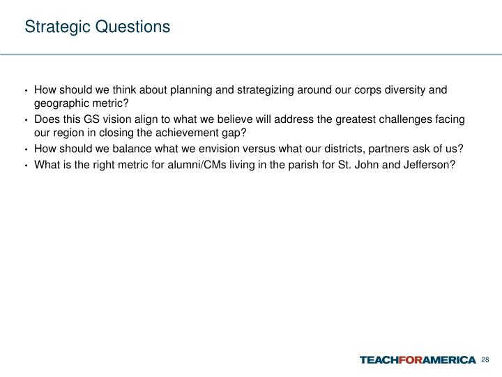 Strategic Questions