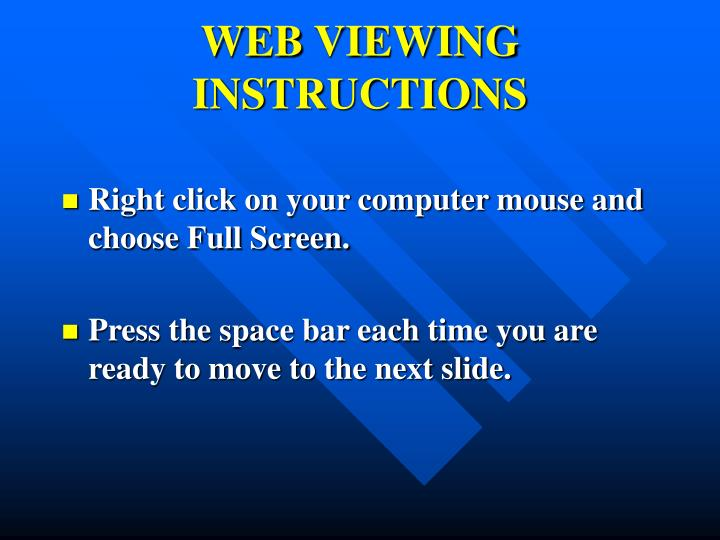 web viewing instructions n.