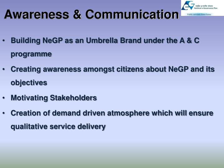 Awareness & Communication